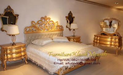 kamar set klasik gold mewah-toko mebel jati klasik-toko jati-furniture klasik mewah-jual kamar set klasik