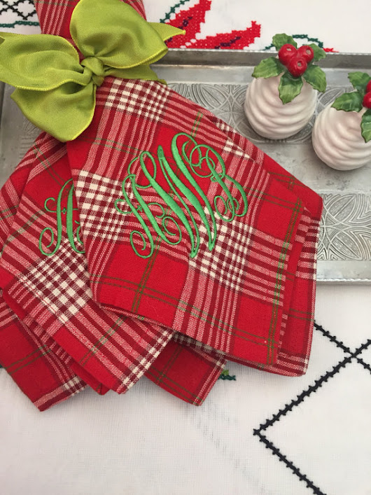 Current Obsession: Monogrammed Cloth Napkins