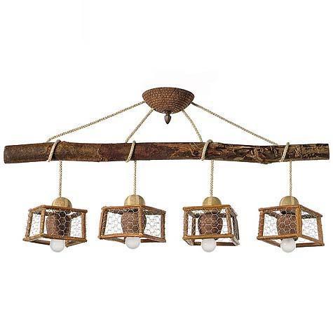 L mparas r sticas para cocina mesas de cocina - Lamparas techo rusticas ...