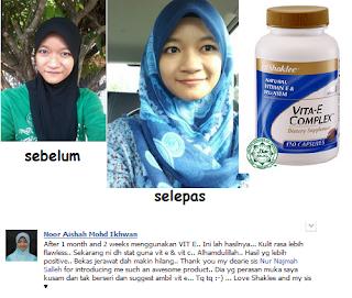 testimonial, vitamin E, kulit cantik, gebu