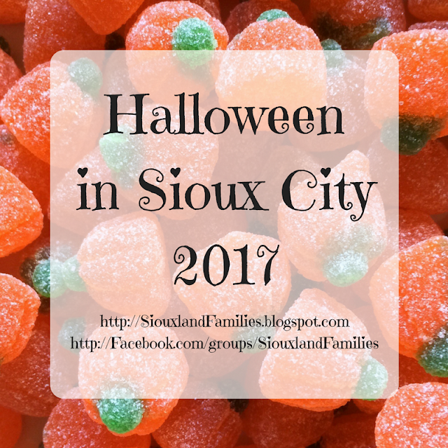 Halloween 2017 in Sioux City including trick or treat hours and community events