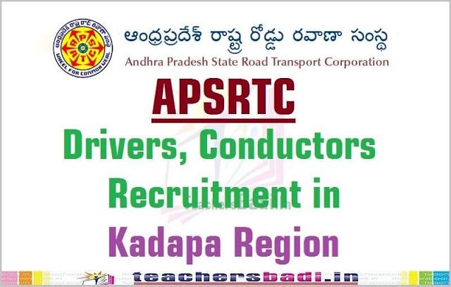 APSRTC,Drivers,Conductors Recruitment,Kadapa Region