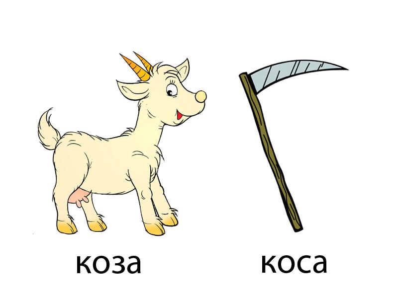 рудковская логопедические картинки коза-коса бывало самолета выпадал