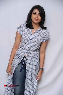 Tamil Kannada Actress Kavya Shetty Stills at Smile Please Movie Press Meet  0005.jpg