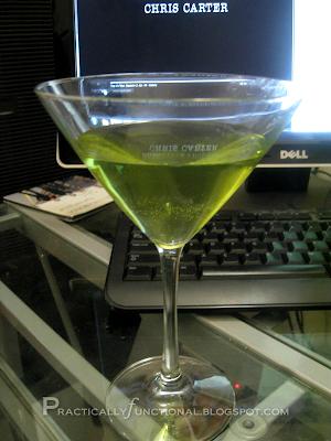 Green appletini for St. Patrick's Day