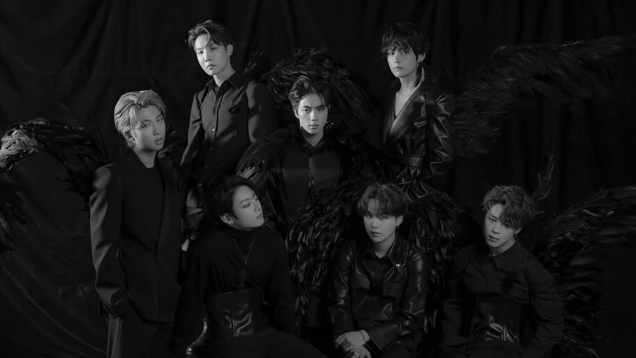 BTS, Map of the Soul 7, Black Wings, Group, Photo, 4K, #6.678