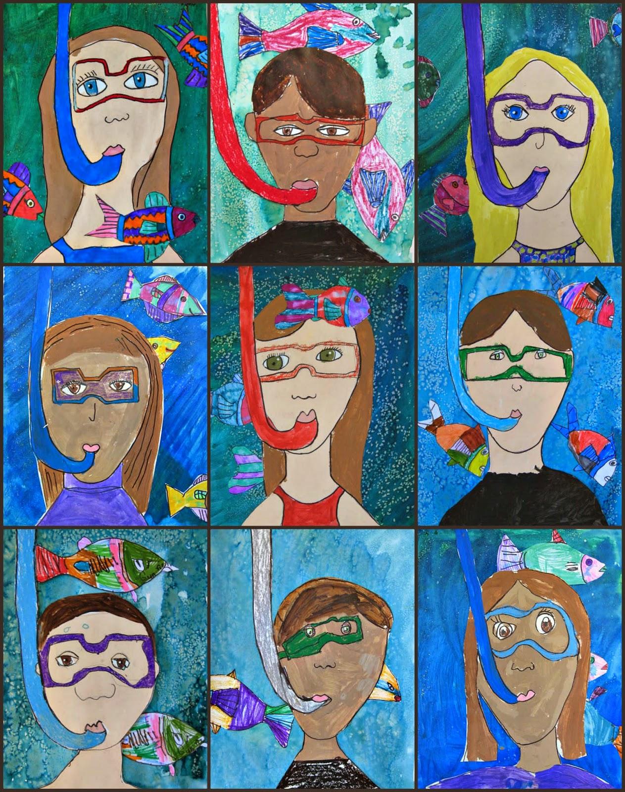 Marymaking Snorkeling Self Portraits