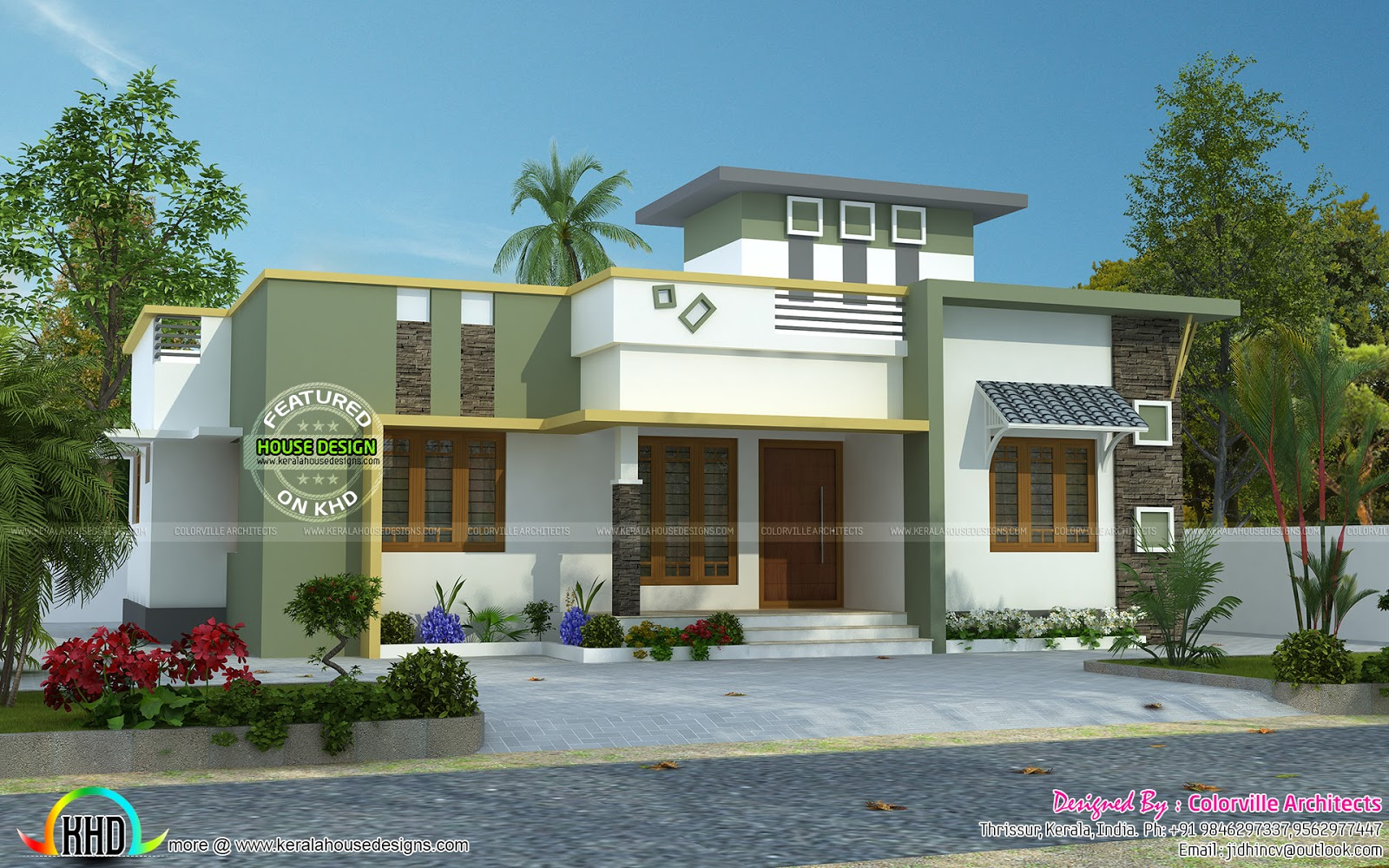 June 2016 kerala home design and floor plans for Single floor house elevation designs