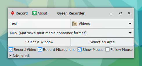 Green Recorder - Screencast App for Linux Supporting Xorg