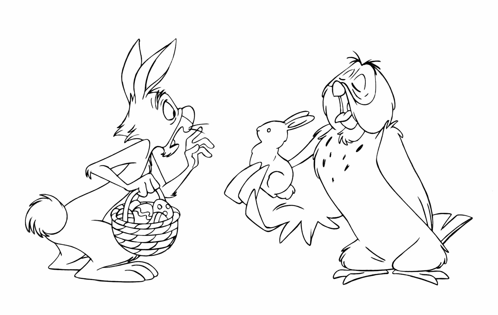 7 rabbit winnie the pooh coloring pages