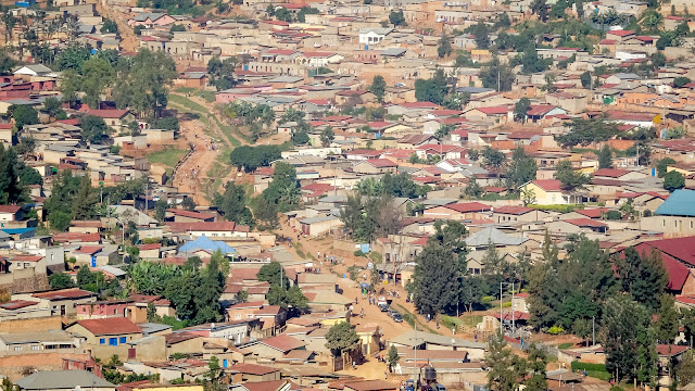 View from Kigali Downtown towards Uptown