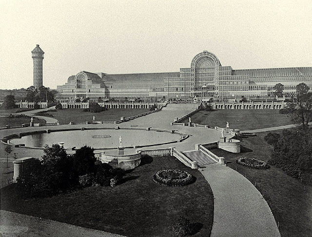 Crystal Palace General view from Water Temple, 1854, Philip Henry Delamotte, Negretti and Zambra