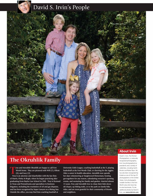 Fort Worth Business Press 2015: The Okruhlik Family
