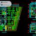 مخطط مشروع وكالة سيارات بشكل بسيط اوتوكاد dwg