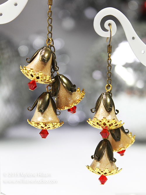 A Christmas tribute to the Aussie bush - gumnut cluster earrings