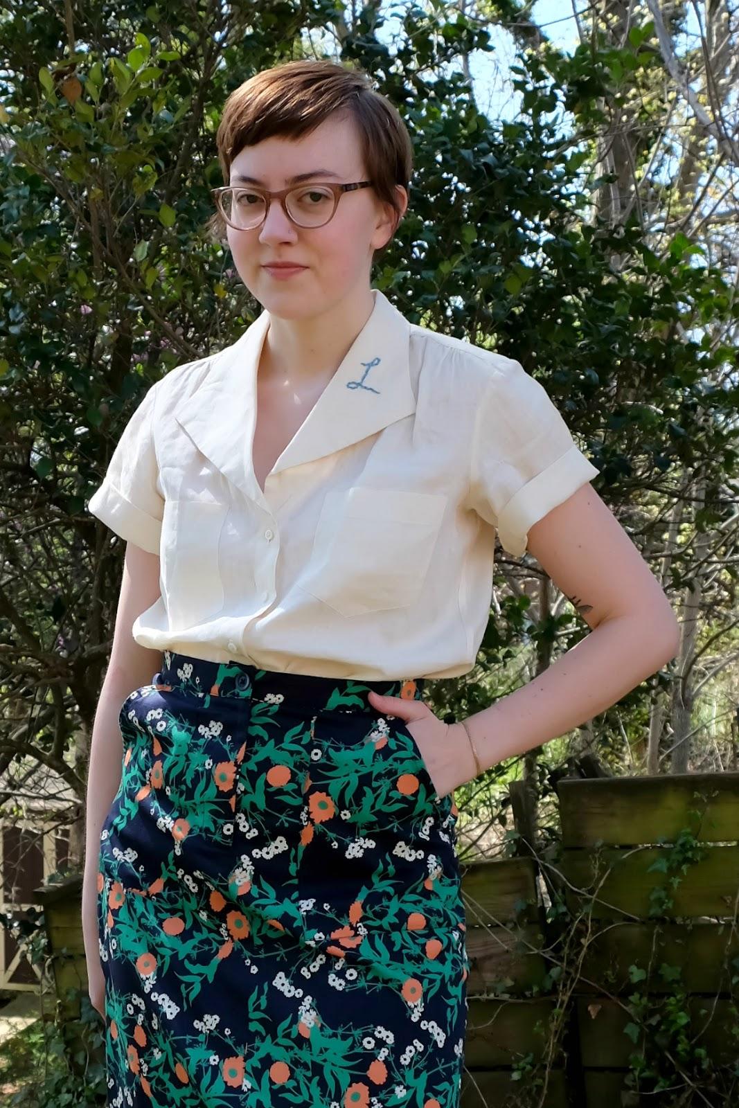 #haulternative fashion revolution week embroidered blouse DIY