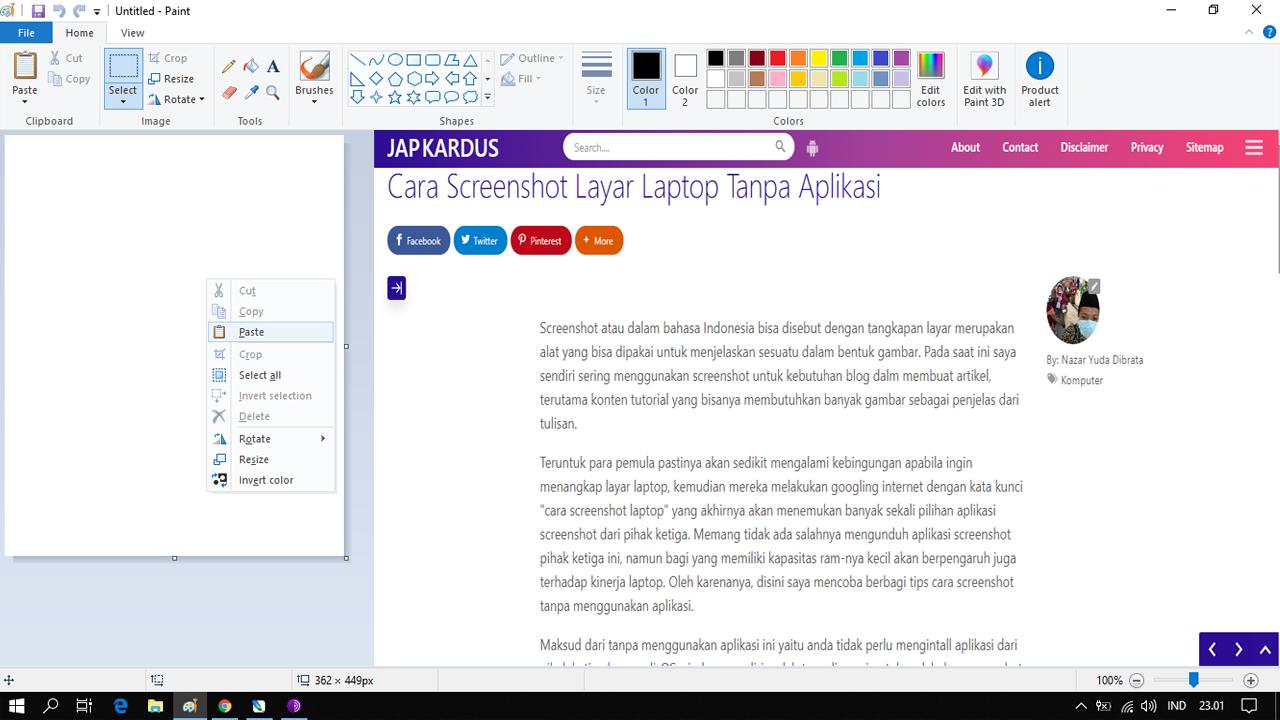 Cara Screenshot Layar Laptop Tanpa Aplikasi