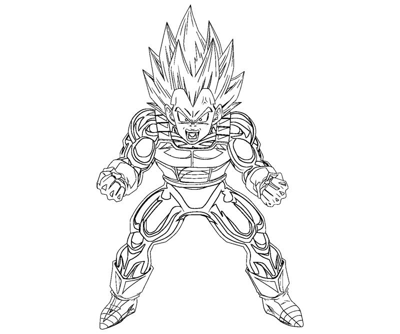 Vegeta 2 coloring crafty teenager for Goku and vegeta coloring pages