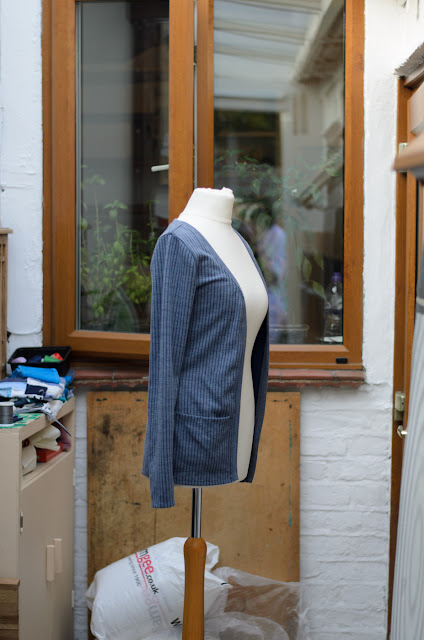 Cardigan on a mannequin