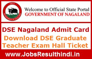 DSE Nagaland Admit Card 2017