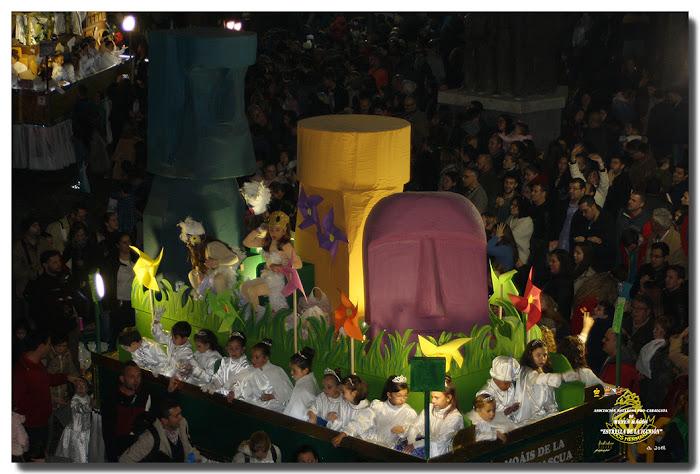 Carroza de los Moáis de la Isla de Pascua