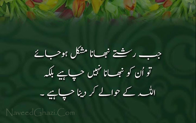 best urdu quotes about life
