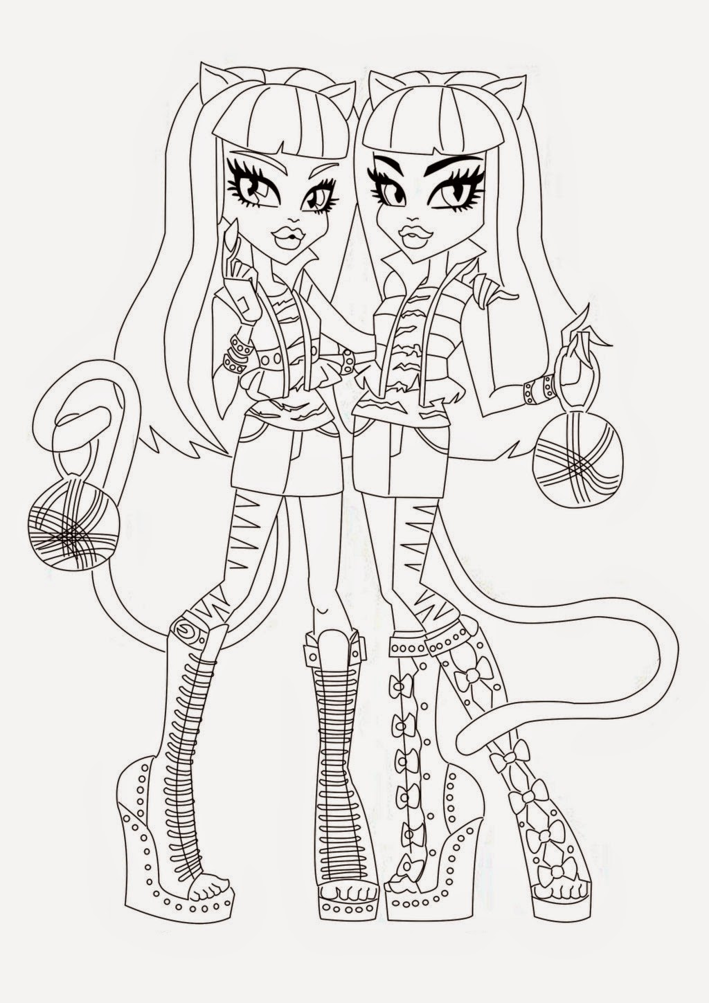 coloring pages monster high skull - photo#25