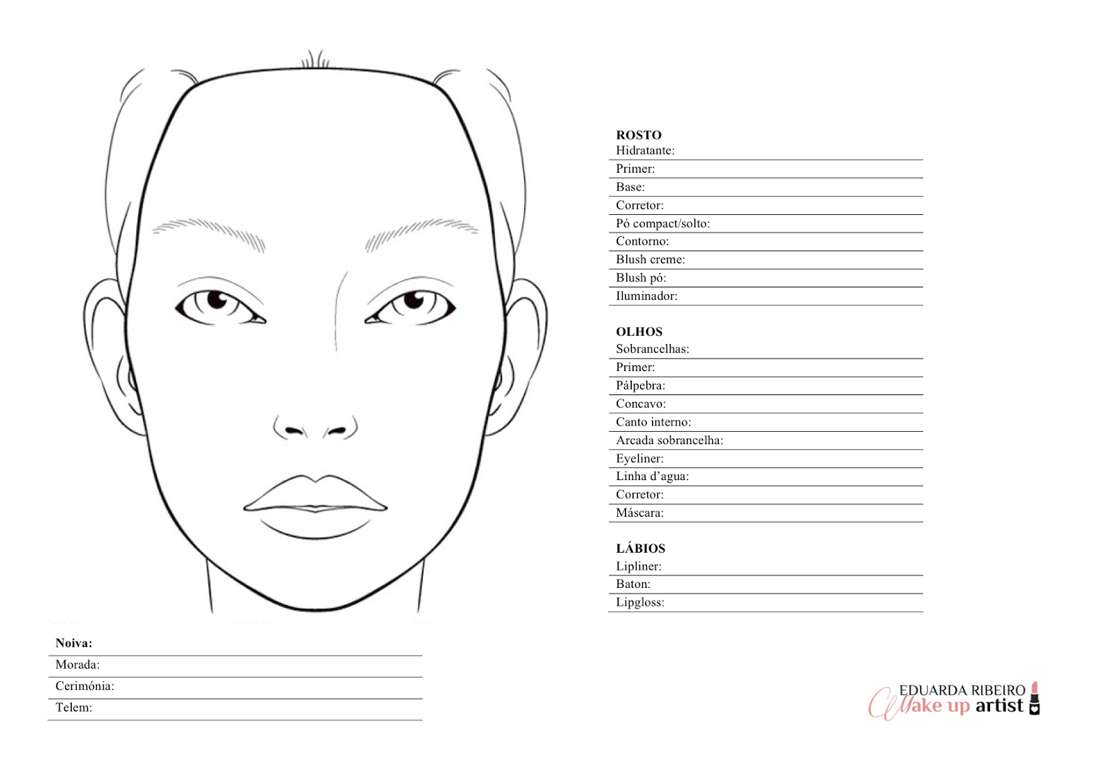 Images About Make Up Charts
