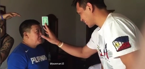 June Mar Fajardo & Marc Pingris' FUNNY Card Magic Trick (VIDEO)