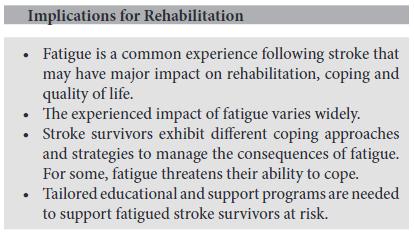 図:脳卒中後の疲労とリハビリテーション