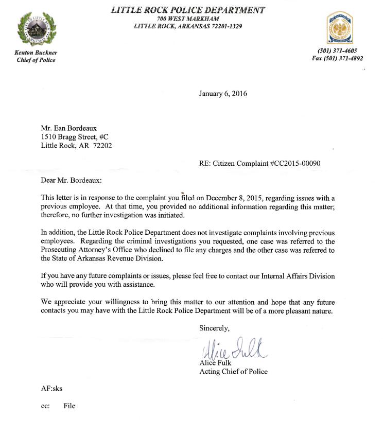 Kenton Buckner: Corrupt Police Chief of Little Rock   Corruption Sucks 2