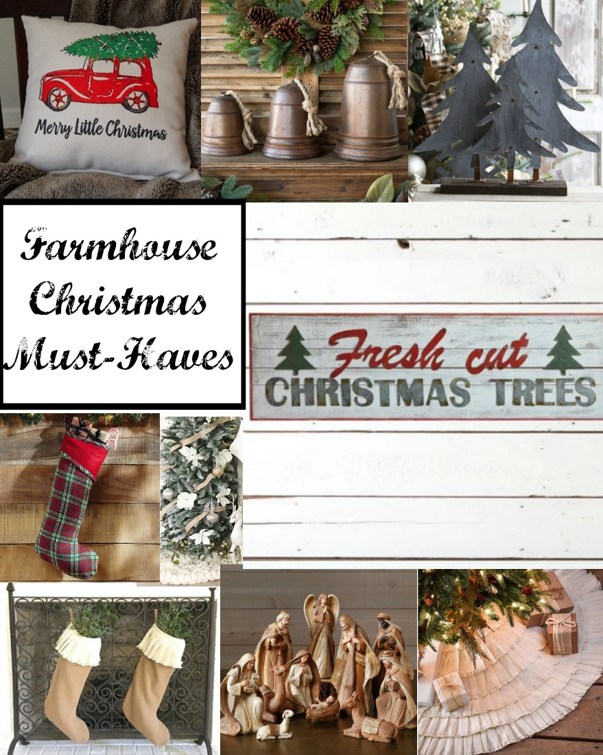 within the next week we will be pulling out our trees but in the meantime we thought we would share some of our favorite farmhouse christmas decor - Christmas Must Haves