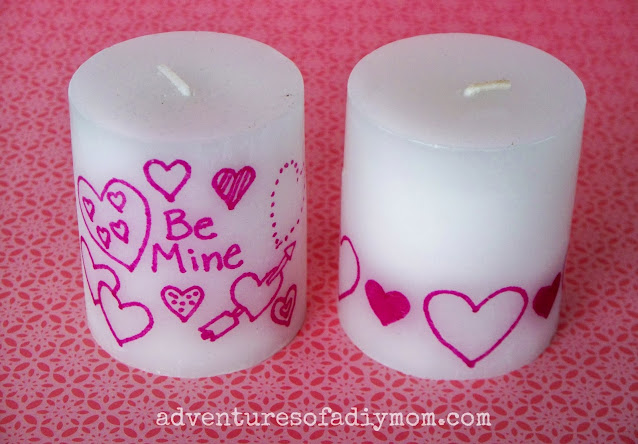 diy valentines candles