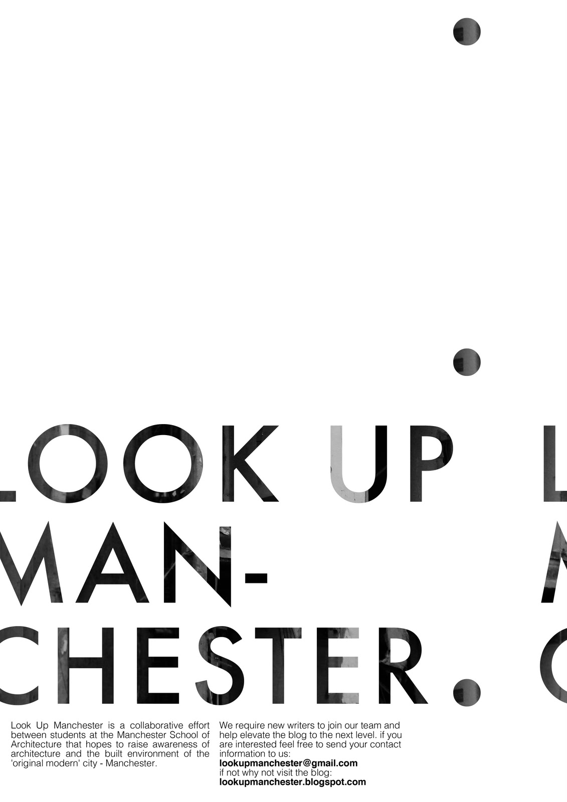 Look Up Manchester New Year New Posters New Writers