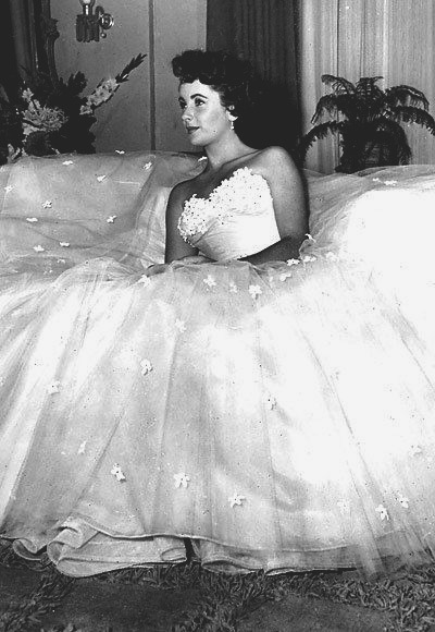 "Elizabeth Taylor in Edith Head Designed Gown  for 1951's ""A Place in the Sun"""