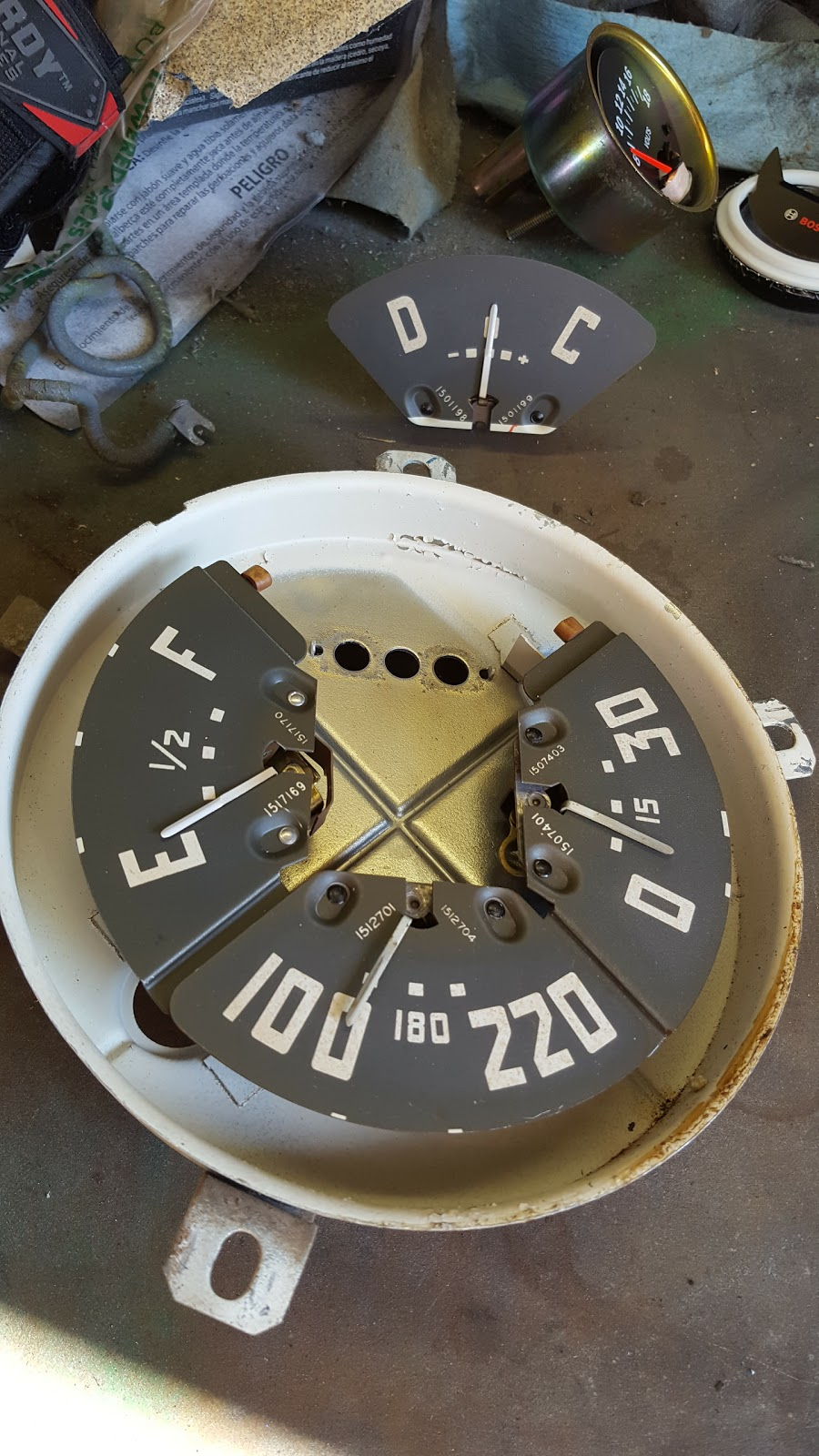 Gray Ghost 1953 Chevy 3100 October 2016 1954 Truck Gauge Cluster Some Of The Steps Were Kind Tedious But All In It Went Pretty Quickly Heres A Shot And Ammeter Before Conversion