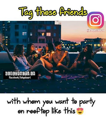 Tag those friends with whom you want to party on rooftop like this