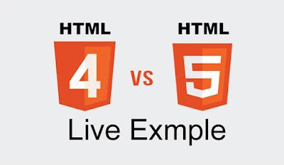 HTML 4 VS HTML 5 Example