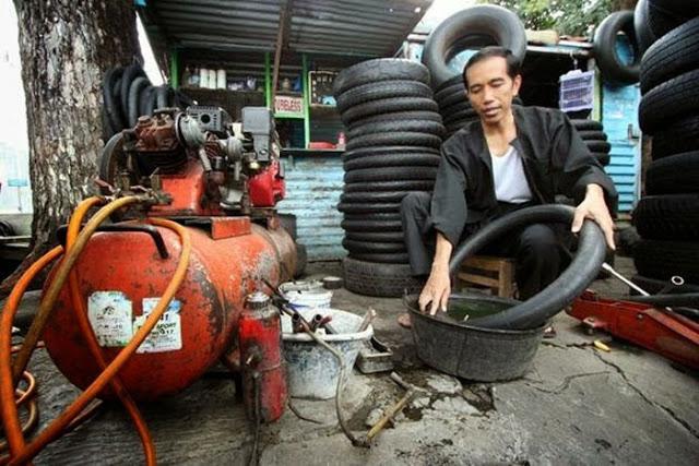 Sebelum Jadi Presiden, Jokowi Pernah Jadi Tukang Tambal Ban hingga PKL