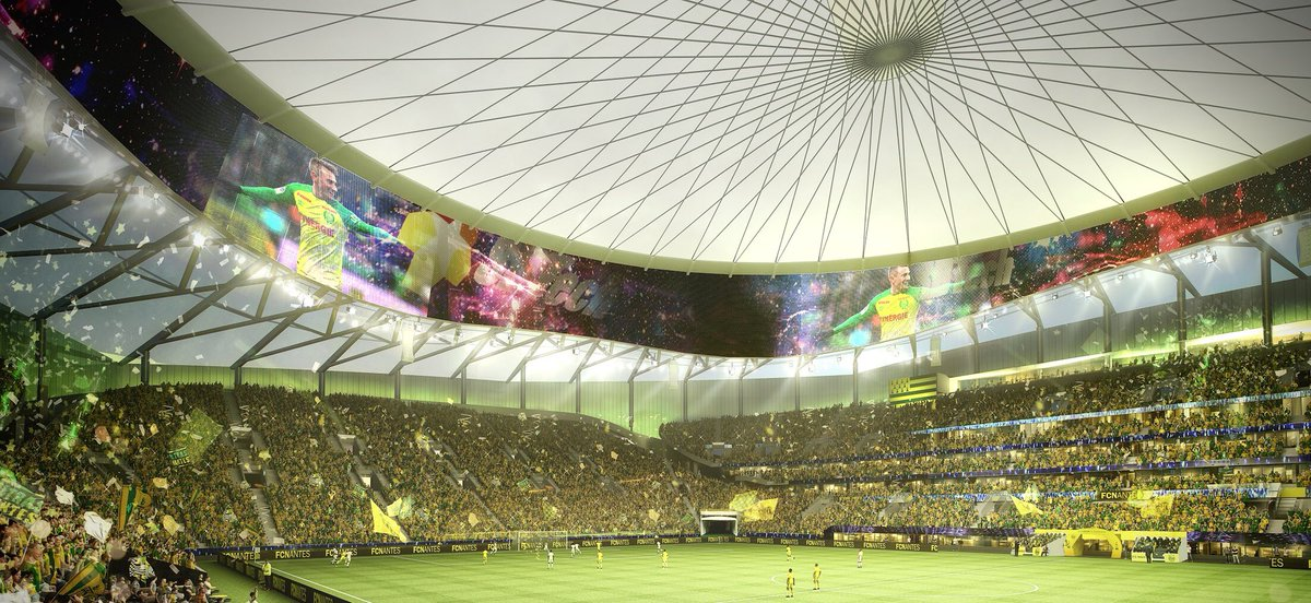 revealed fc nantes proposed new stadium yello park footy headlines. Black Bedroom Furniture Sets. Home Design Ideas