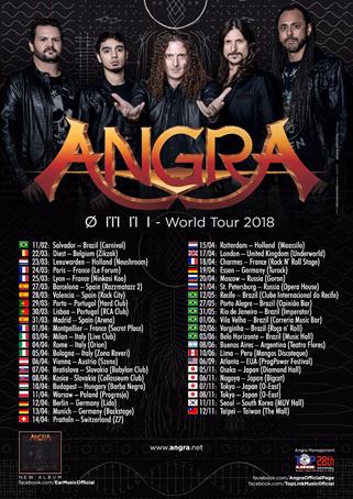 Angra: banda divulga primeiras datas da ØMNI World Tour 2018