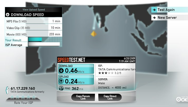 Broadband hack for slower data transfer rate