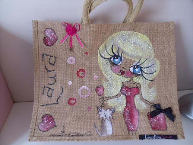 Claireabella - handbag - personalised jute - jute bag - shopping bag - beach bag - review