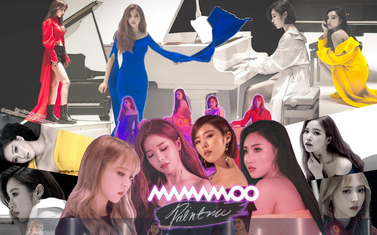 K Pop Lover Mamamoo Paint Me Wallpaper