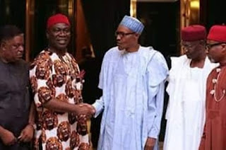 Biafra: Abaribe, Ekweremadu other Igbo Senators meet Buhari over IPOB, Nnamdi Kanu