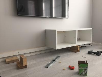 Ikea bestå kiinnittäminen seinään, Ikea bestå tv taso, bestå, seinään kiinnitettävä tv taso