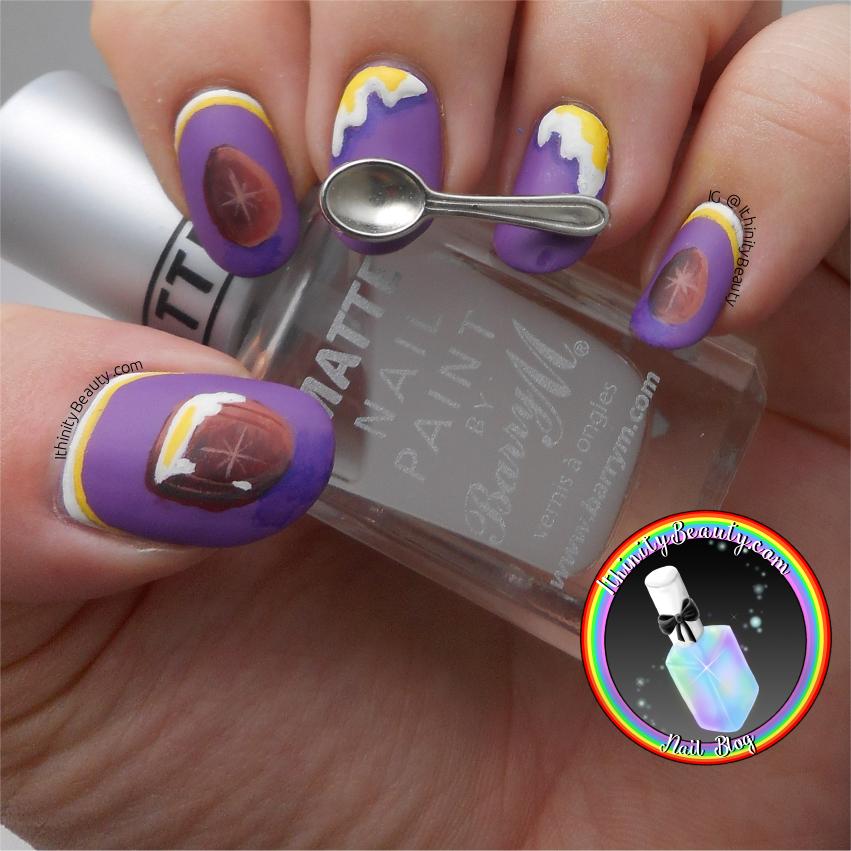 Freehand Cadbury Cream Egg Nail Art With 3D Gel Drips & Spoon ...