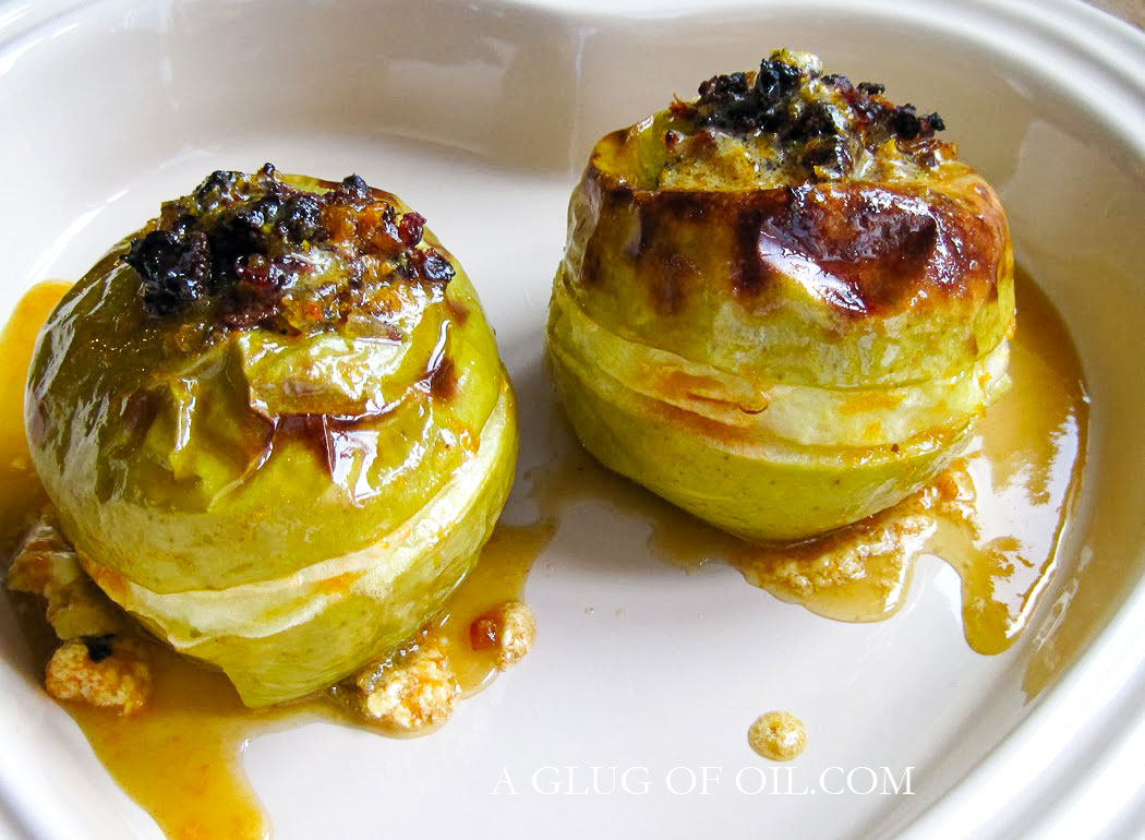Baked Apples Stuffed with Dates Ginger and Orange