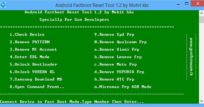 download tools android fastboot frp reset tool v1 2