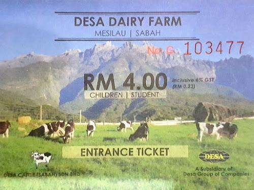 Tiket Kanak-kanak Desa Dairy Farm